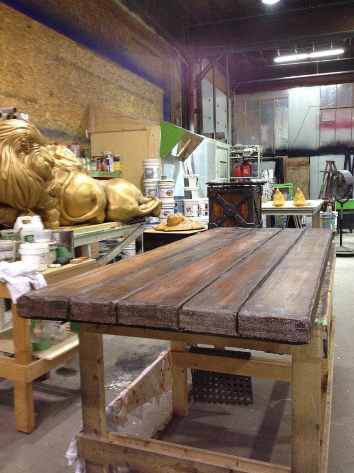 wood stunt table - WOW